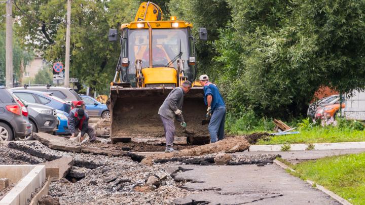 В Перми затягивается ремонт на улице Краснополянской. Её откроют только в сентябре