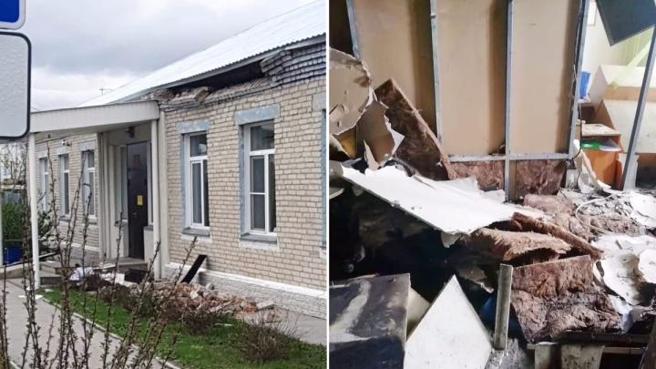 «На месте найдена куртка поджигателя»: в администрации села Толмачёво случился пожар