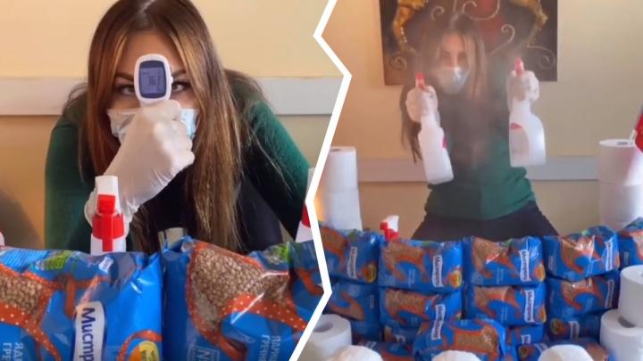 Наталья Бочкарёва показала на себе, к чему приводит переизбыток скупленной гречки и туалетной бумаги