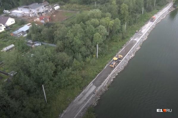 Сейчас на Шарташе строят дорожку шириной 3,5 метра