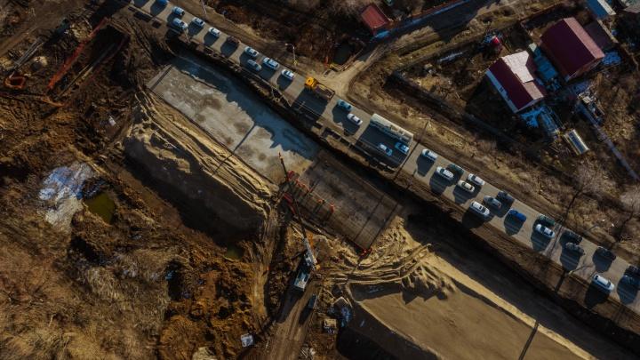 Съезды с путепроводом: как строят транспортную развязку на Кряжском шоссе
