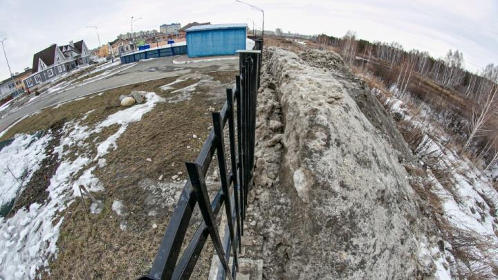 Свалки снега на берегу реки Миасс возле посёлка Благодатово признали незаконными