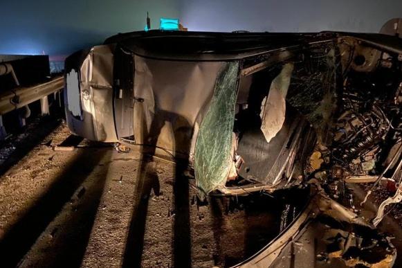 Так выглядит машина после аварии