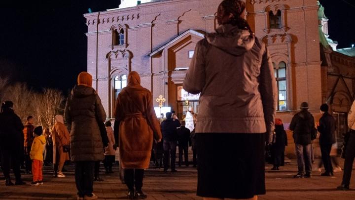 В полиции рассказали, сколько челябинцев пришли в храмы на Пасху