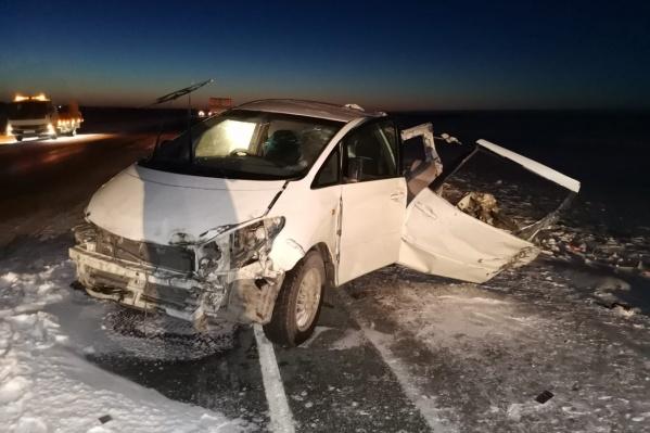 Пассажир «Тойоты» погиб на месте