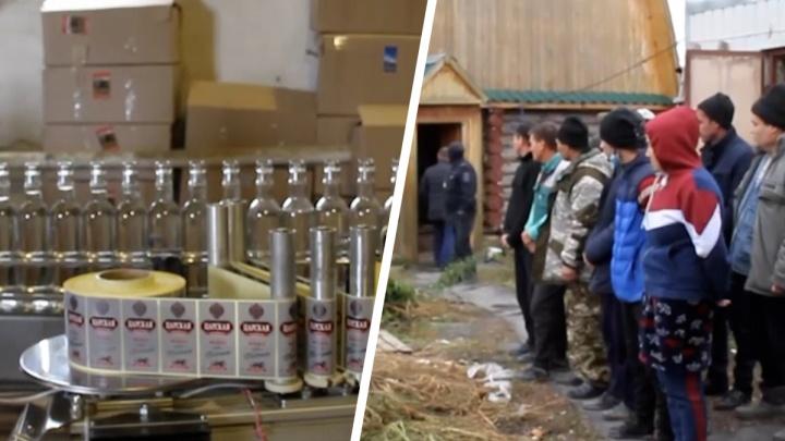 Большой цех по производству палёного алкоголя накрыли в Челябинской области