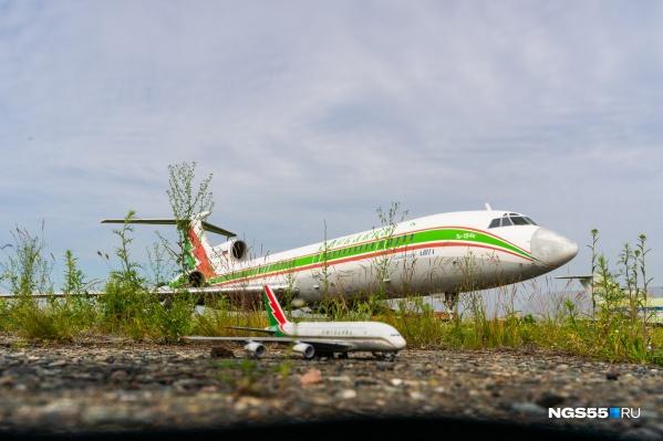 Флагманским лайнером омской авиакомпании стал легендарный ТУ-154