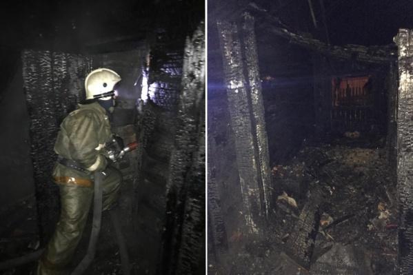 Пожарные сейчас работают на месте