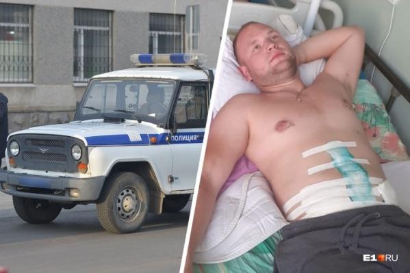 Только сегодня Дениса, который в резне пострадал сильнее всего, перевели из реанимации в стационар