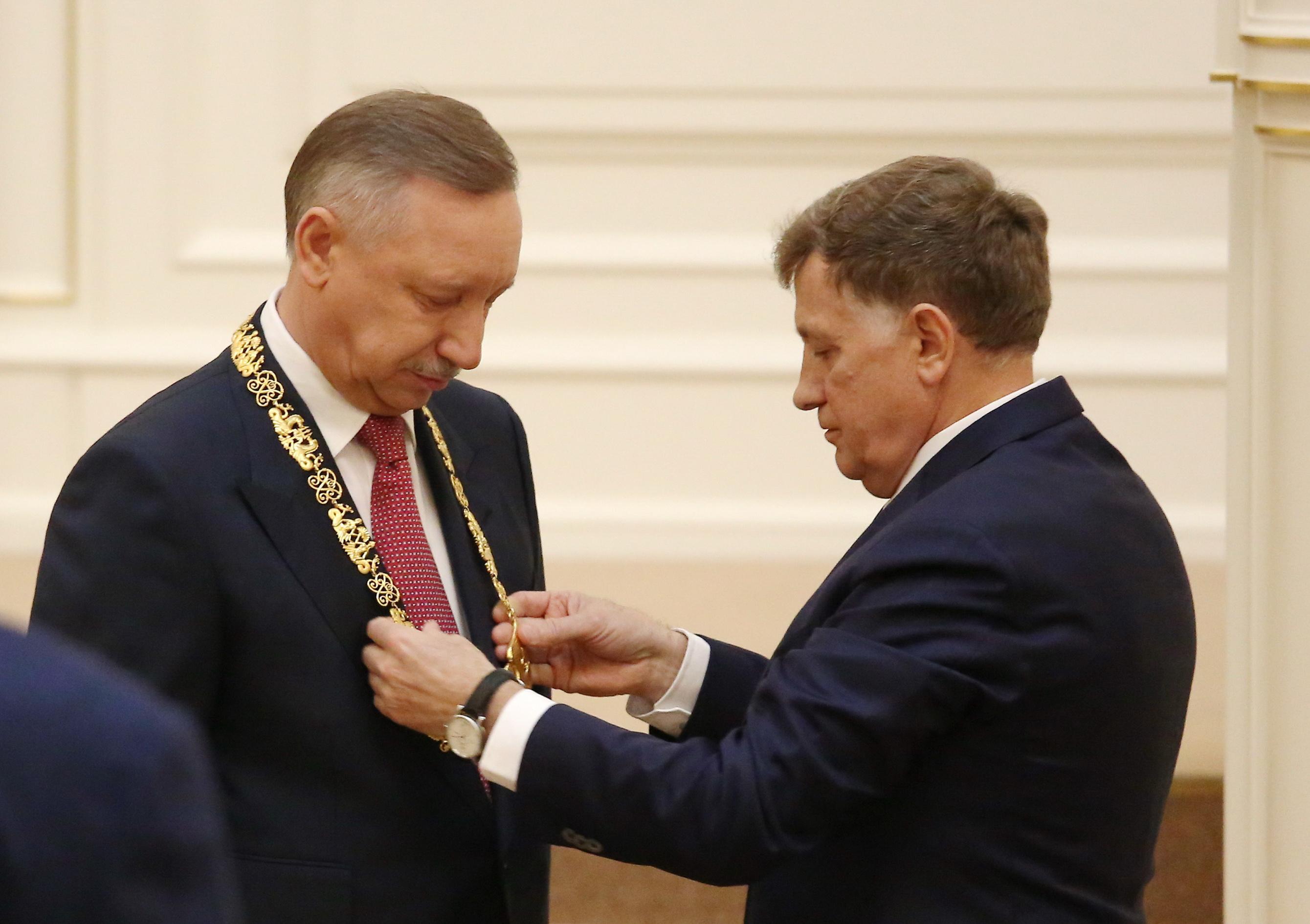 Вступление Александра Беглова в должность губернатора