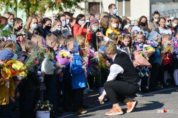 В Поморье в этом году за парты сели 124 тысячи школьников