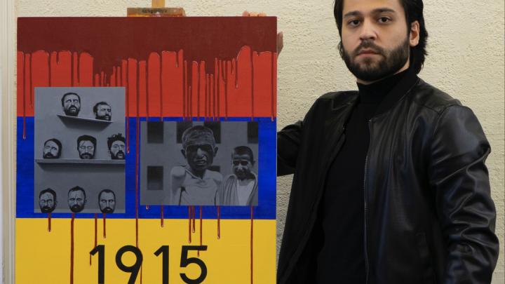 Красноярский художник написал жуткую картину в память о жертвах геноцида армян