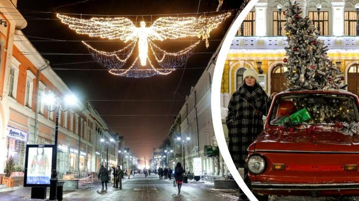 «Первый раз так Покровку украсили!»: новогодний репортаж NN.RU с главной улицы Нижнего Новгорода