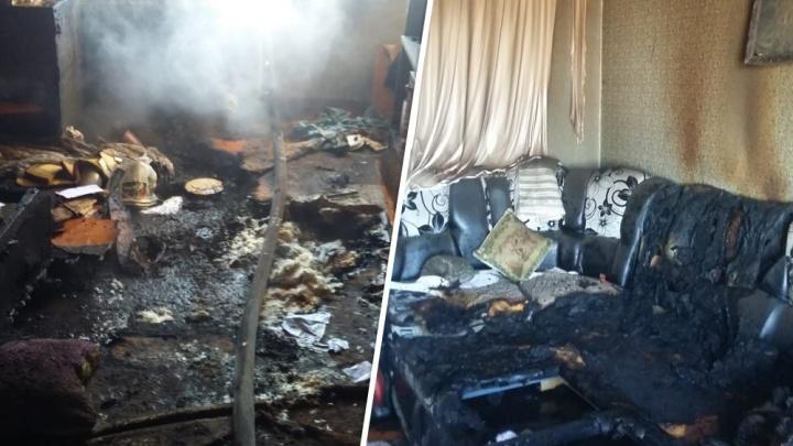 Мужчина погиб из-за пожара в многоквартирном доме в Башкирии