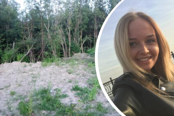 Убитая Влада Ларина и место возле Окружного шоссе, где нашли её тело