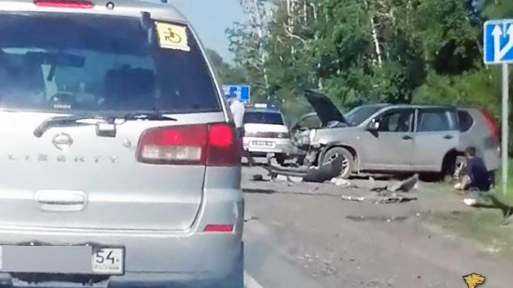 Джип убил выбежавшего на дорогу лося и протаранил машину на встречке