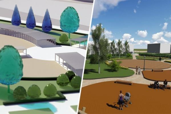 Справа — планы на парк имени Ломоносова, слева — на сквер возле «Соломбалы-Арт»