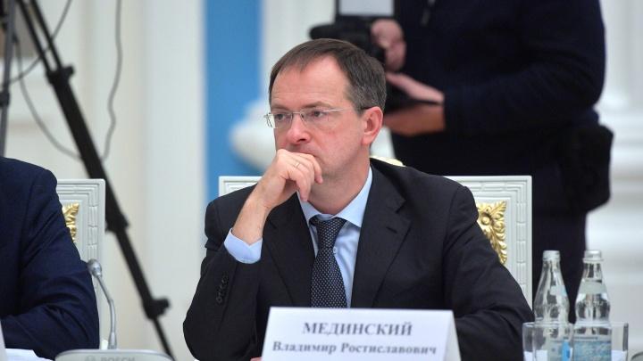 В Архангельск прибыл помощник президента Владимир Мединский