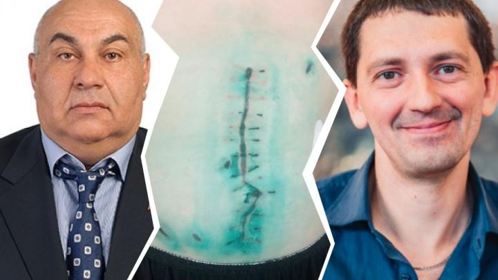 «Я потерял полтора литра крови»: новосибирец обвинил депутата и его сына в нападении с ножом