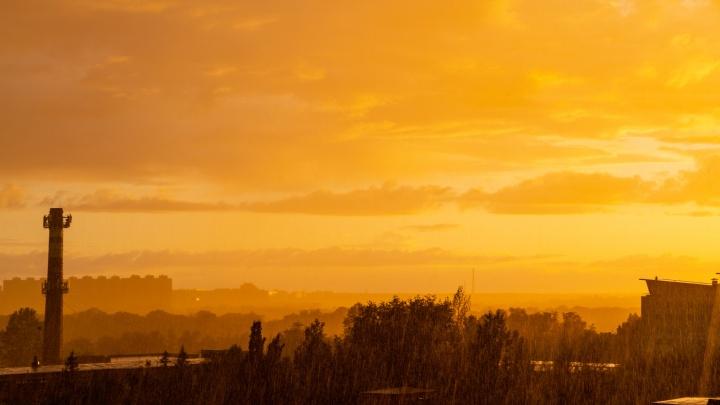Дождь в солнечный день: десять самых красивых снимков омских коротких ливней