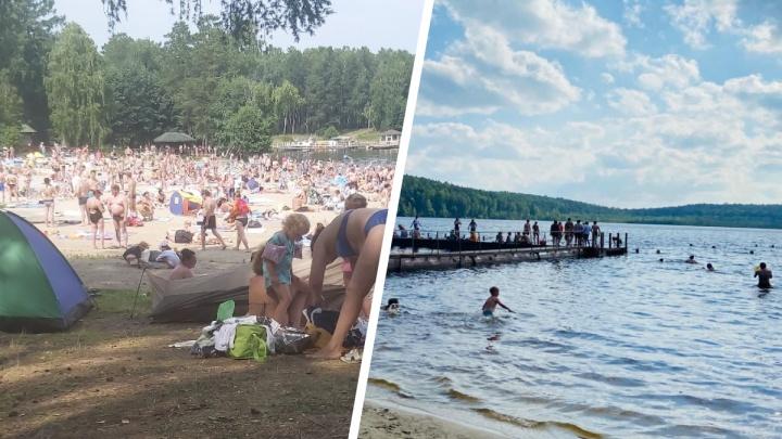 «Людей полно, около берега даже прилечь негде»: уральцы показали 6 водоемов, в которых купаются
