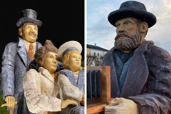 Скульптурная группа появилась в Архангельске 7 ноября и стала третьим объектом в серии работ от «Сборной Тайболы»