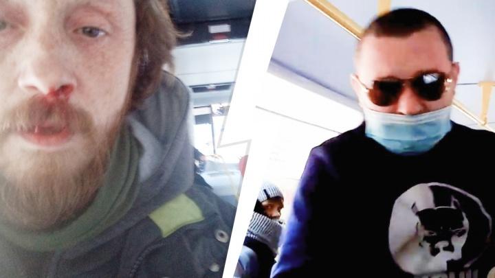 «Разбил нос и выкинул рюкзак из автобуса»: на Урале драка водителя с пассажиром из-за маски попала на видео