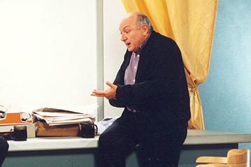 Михаил Жванецкий на съемках программы «Простые истины»