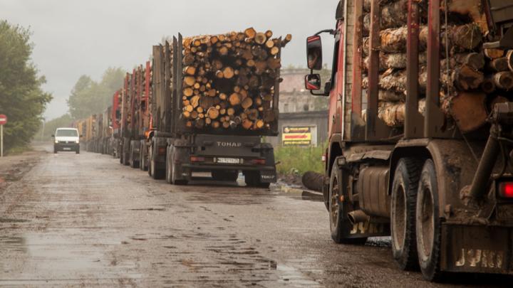 В Архангельской области ограничили движение большегрузов на трассе А-215