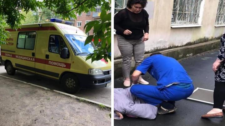 «Шёпот мамы, безумие в глазах отца»: у офиса Фонда милосердия в Ярославле из окна выпал ребёнок