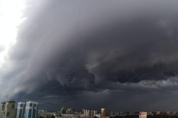 Погода в Новосибирске испортилась за несколько минут