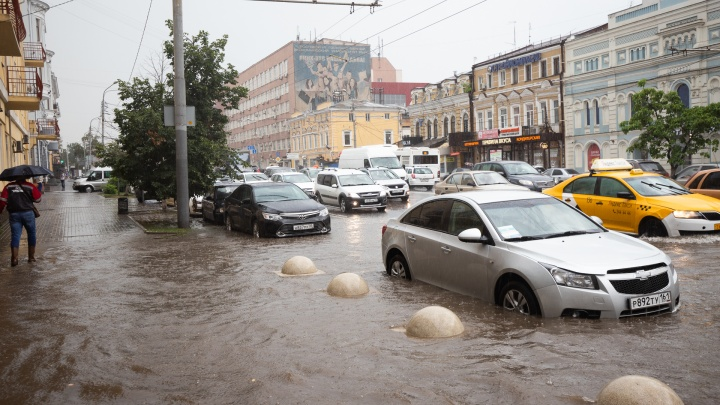 Из-за ливня в Ростове перестали ходить трамваи и троллейбусы