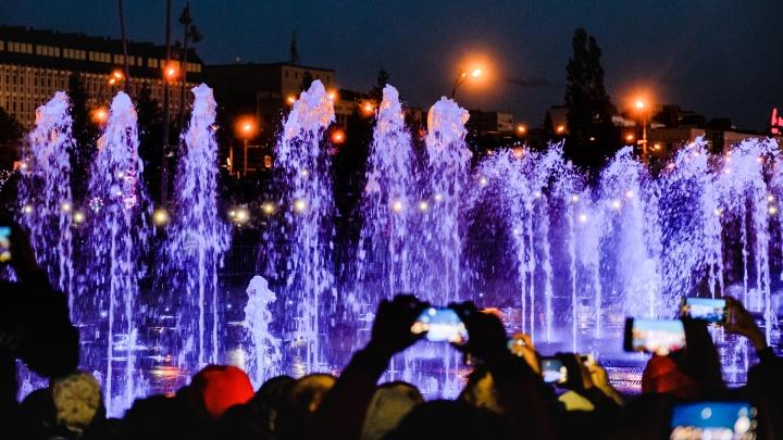 В Перми продлили работу фонтанов на эспланаде
