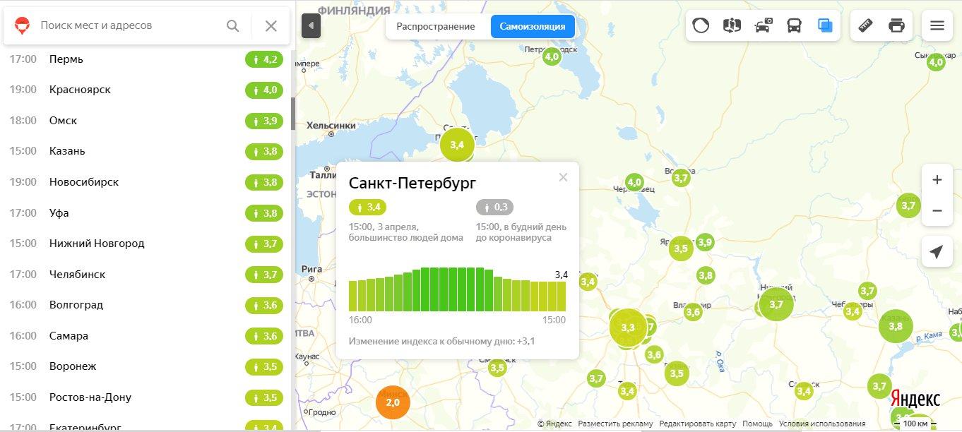 "Данные на 15:00. Скриншот из&nbsp;<a href=""https://yandex.ru/maps/covid19/isolation"" class=""_"">yandex.ru/maps/covid19/isolation</a>"