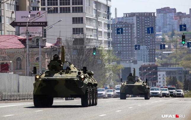Из-за парада перекроют центр Уфы 8 и 9 мая