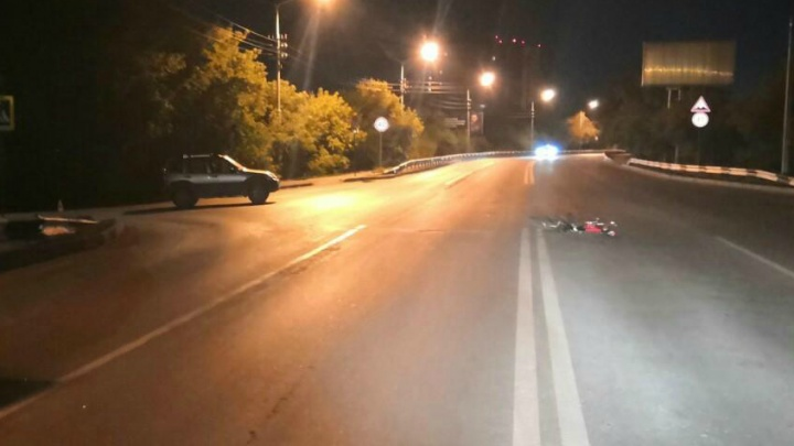 В Кургане сбили велосипедиста