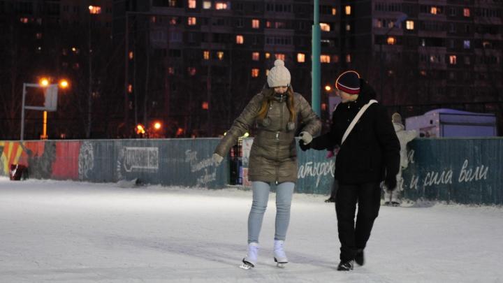 Карта бесплатных катков Екатеринбурга пополнилась новыми кортами