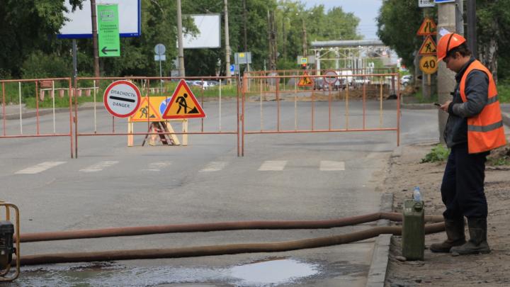 В Архангельске на 8 дней перекроют движение на перекрёстке Гагарина и Обводного канала
