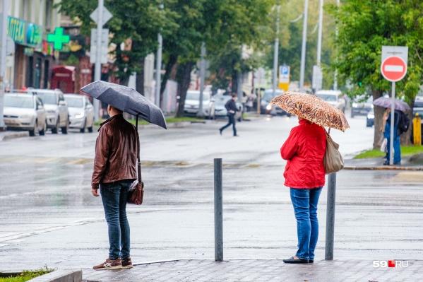 Дожди будут идти почти всю неделю