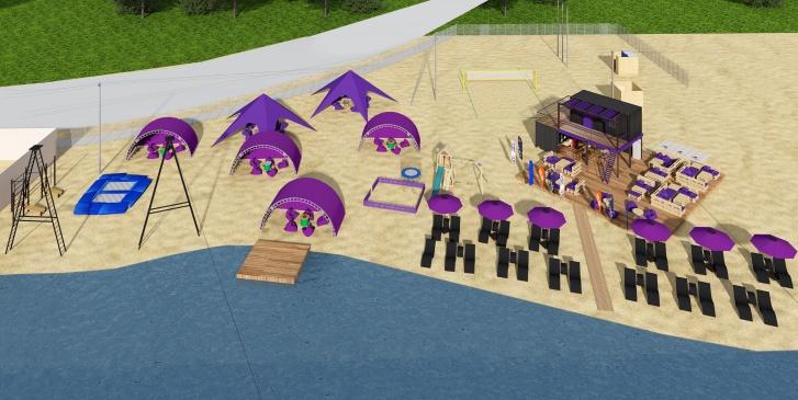 На пляжах появятся лежаки