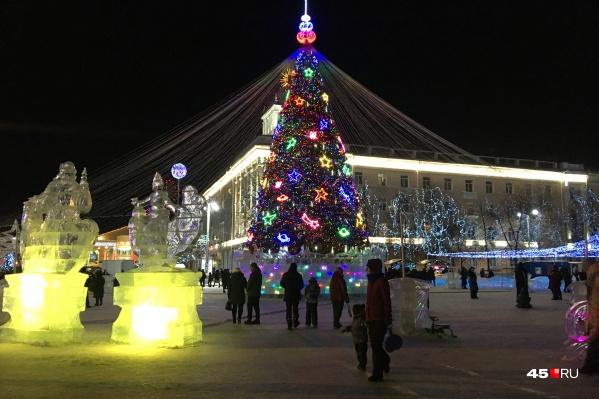 Список праздничных мероприятий на новогодние каникулы в Зауралье расписан до 10 января
