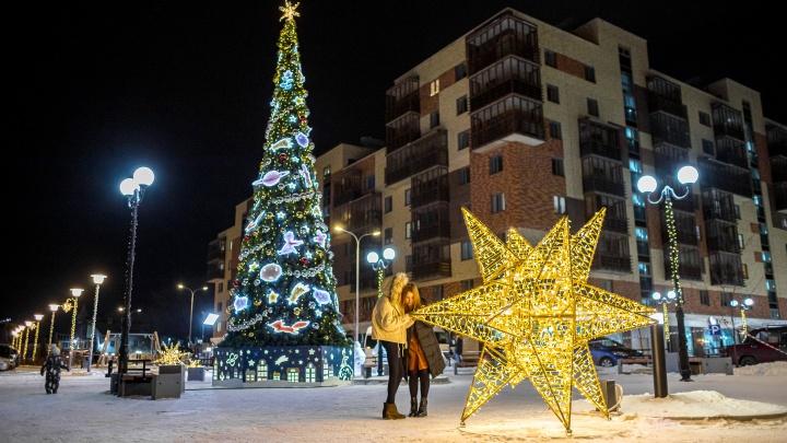 Светящиеся звезды, олени и деревья: показываем самые красивые места для зимних фотосессий