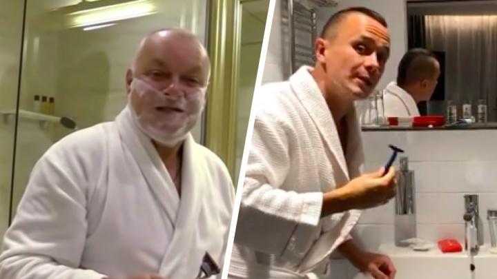 Комик Соболев спародировал Дмитрия Киселёва, снявшего репортаж про отравление Навального