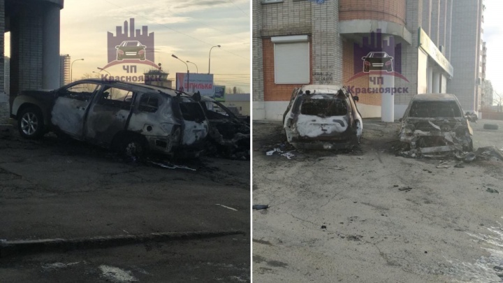 На Взлетке ночью сожгли два автомобиля