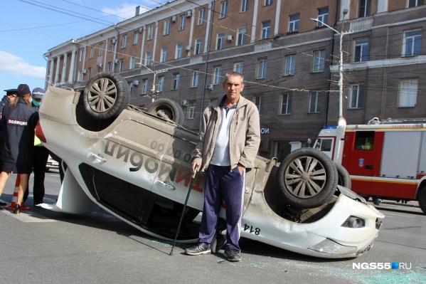 Водитель такси Сергей не пострадал