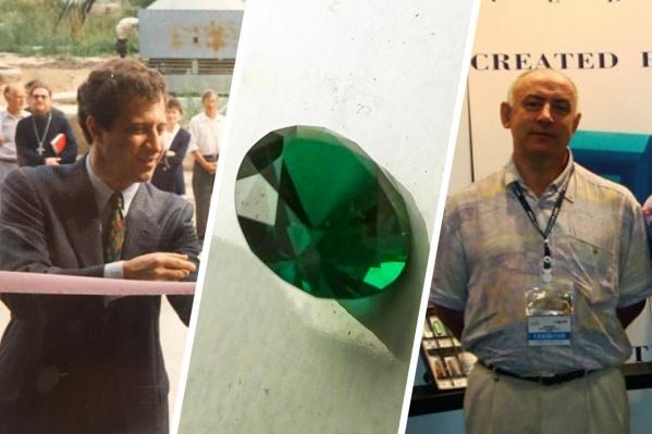 Когда-то Волтер Баршай (слева) и Олег Холдеев (справа) работали партнёрами в научной компании по выращиванию искусственных драгоценностей и были приятелями