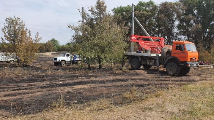 «Россети Юг» в круглосуточном режиме обеспечивали безопасность во время тушения ландшафтных пожаров