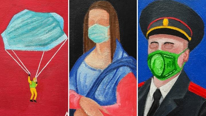Художник из Екатеринбурга написал серию провокационных работ о коронавирусе