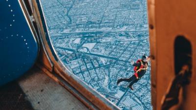 Тюмень с высоты тысячи метров над землей. Головокружительный репортаж с «Битвы на Туре»