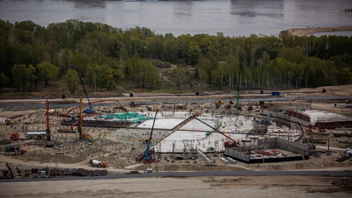 Как выглядит сейчас будущая ледовая арена в Новосибирске — 10 фото со стройки